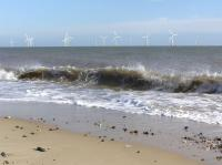 Great Yarmouth, Norfolk, UK, Scroby Sands Wind Farm - click for full size image